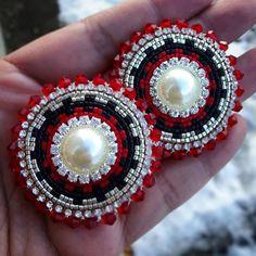 Available #beadedearrings #native #beadwork