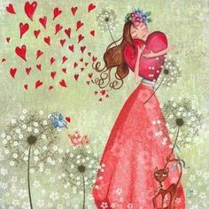 Hearts illustration via Carol's Country Art Carte, I Love Heart, Illustrations, Heart Art, Whimsical Art, Cute Illustration, Be My Valentine, Cute Pictures, Artsy