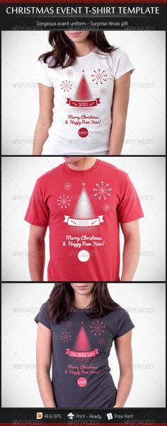 Christmas and New Year Event T-Shirt Template - DOWNLOAD NOW