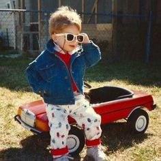 The kid who just bought himself a hot new ride to go with his killer shades. | 21 People Who Are Living Life To The Fullest