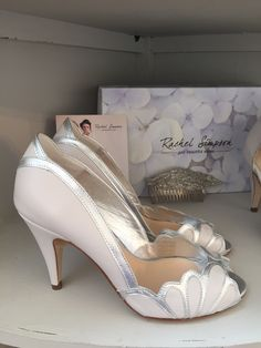 Rachel Simpson Isabelle Porcelaine Leatherwedding shoes, higher heel,  Holmfirth West Yorkshire 01484 766160