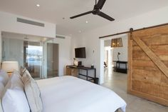 Minimalist modern rooms at El Ganzo all display a touch of rusticity.