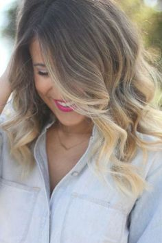 blonde ombre hair medium length