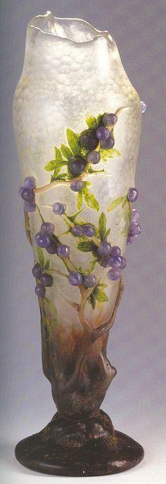"""Daum """"Prunelles"""" Vase / 1909"""
