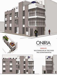 Viviendas multifamiliares diseñadas por Oniria Arquitectura . Diseño de Multifamiliar de tres pisos en Piura. Diseño de viviend...