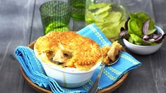 GREEN THAI CHICKEN CURRY PIES - Your family will love the home-made taste of these green chicken curry pies - enough to feed four hungry tummies! Thai Green Chicken Curry, Green Thai, Sticky Chicken, Kebabs, Curries, Quiches, Cooking Classes, How To Cook Chicken, Chicken Recipes