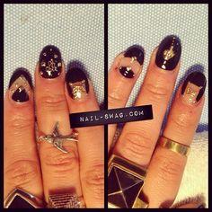 Close up of the OH SHIT, BITCH NAIL! Decals for dayyyzzzz ladies! #nailswag #nails #nailart #nailartclub #naillabo #swag #LA