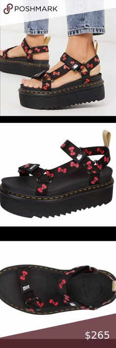 Dr Martens Sandals, Plus Fashion, Fashion Tips, Fashion Design, Fashion Trends, Walk In My Shoes, Dr. Martens, Women's Shoes Sandals, Hello Kitty
