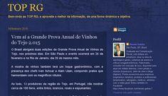 'Caravana dos Vinhos do Tejo', 'Grande Prova Anual de Vinhos do Tejo'  no Site Top RG, por Renato Galvão. Com Wine Senses.