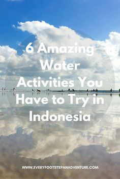 The glorious, clear warm waters of Indonesia are a perfect way to spend some time. Here are 6 AMAZING water activities you have to try in Indonesia! Bali Travel, Wanderlust Travel, Travel Usa, Best Travel Guides, Amazing Destinations, Travel Destinations, Adventure Activities, Water Activities, Travel Information