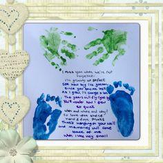 Hand and footprint poem