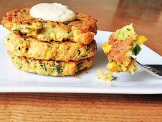Zucchini and Corn Veggie Burgers | One Green Planet