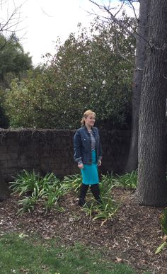 Pencil skirt and denim jacket // What's up cork // a petite fashion blog