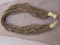 Beaded necklace #Handmade #Non-metal #Gold #Sewing #Morocco