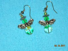 green angel earrings by BeadingByJenn on Etsy, $8.50