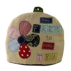 Feel Free to Make Tea - Large Handmade Tea Cosy | Made By Hand Online