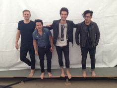 American Authors spent a day #WithoutShoes for #TOMS!