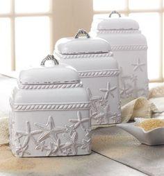 coastal decor accessories   Nautical Luxuries Coastal Decor & Gifts - Terracotta Starfish Canister ...