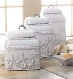 Terracotta Starfish Canister Set. 3-piece set. Price:122
