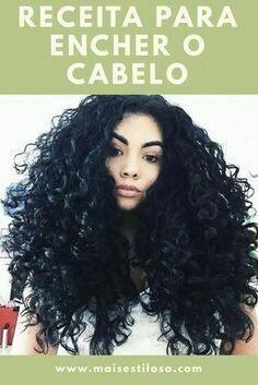 Receita para encher o cabelo Pelo Natural, How To Make Hair, Afro Hairstyles, Hair Goals, Weight Loss Tips, My Hair, Curly Hair Styles, Curls, Hair Care