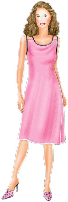 free pattern- use for top? preview - #5137 Dress on thin  shoulder-straps