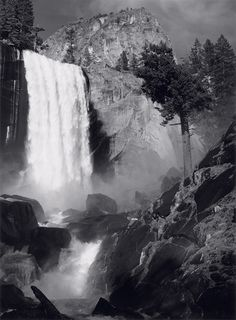 Vernal Fall by Ansel Adams More