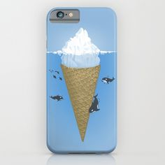 Hidden part of icebergs iPhone & iPod Case by Naolito