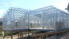 Light gauge steel framing solution, lgsf building, prefabricated industrial sheds, roof top structures Light Steel Framing, Metal Stud Framing, Steel Frame House, Steel House, Prefabricated Houses, Prefab Homes, Steel Barns, Slide Background, Steel Frame Construction