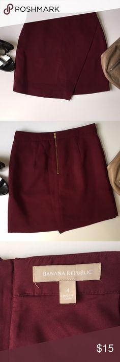 f80b7010a Banana Republic faux wrap skirt sz4 Sexy yet classy burgundy faux wrap skirt  by Banana Republic