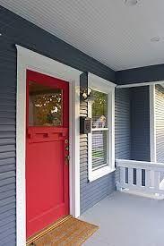 gray craftsman red door - Google Search