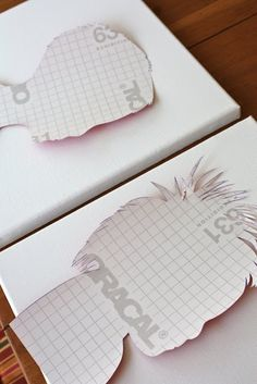 Do it yourself silhouttes! perfect for mothers day gifts!
