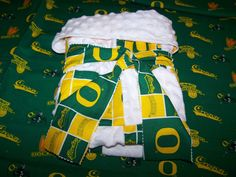 Oregon Ducks Baby Boy Girl Quilt Snuggle Blanket on by sososophie