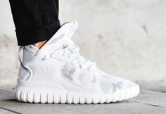 low priced be4a5 18aee ADIDAS Tubular X in white camo uppers. Very subtle but absolutely sick!  adidas