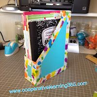 At the beginning of the school year, have students bring in their own cereal box to transform into an organizational tool they can use in the classroom.  Allow them to personalize their holder with stickers, drawings or photos...Cristi Laprad.....book boxes!!!!!! Cheap