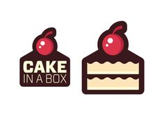 Cake in a Box features in the Design Shack gallery.It's the perfect logo for a cake store. Bakery Logo Design, Cafe Design, Cake Branding, Logo Branding, Dessert Logo, Donut Logo, Cute Food Drawings, Cake Logo, Box Logo