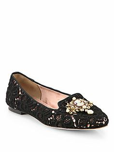 Dolce & Gabbana Macram? Lace Loafers