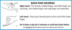 Mudras for Back Pain