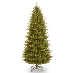 "National Tree PENAF4-335-75 7 1/2' ""Feel Real"" Natural Frasier Slim Hinged Tree with 750 Clear Lights"