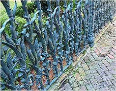 Cornstock Fence in New Orleans Garden District