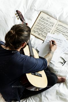 Buy Man Practising notes with guitar by Rawpixel on PhotoDune. Man Practising notes with guitar Music Love, Music Is Life, Good Music, Musician Photography, Band Photography, Acoustic Guitar Photography, Guitar Girl, Music Guitar, Ukulele
