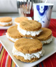 Pumpkin Whoopie Pies - The perfect seasonal fitness snack! They are delicious and have almost as much protein as carbs and very little fat.