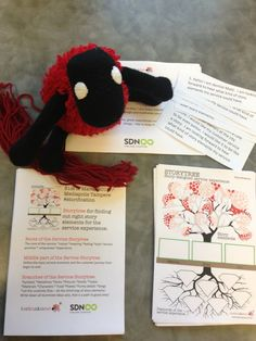Getting ready for SDN StoryWorkshop,can you see how many red threads I have!