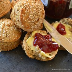 Made with buttermilk; n our house we bake these Irish brown soda scones on Christmas Eve because we drape them with smoked salmon on Christmas Day. English Bread, Irish Scones, Good Food, Yummy Food, Healthy Food, Irish Recipes, Irish Desserts, Scottish Recipes, Asian Desserts