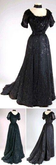 Vestido negro victoriano