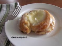 Easy Cheese danishes! You can do a whole bunch with Crescent rolls!