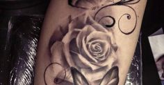 Weisse Rose mit Schmetterlingen Tattoo | sonstige | Pinterest | Tattoos and body art and Roses