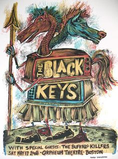 boston concert posters | The Black Keys Boston concert poster by Dan ... | Ilustrações ...