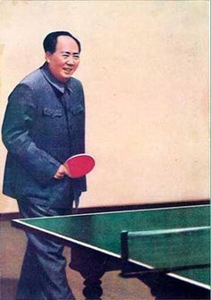 Chairman Mao playing ping pong. This is my favourite image of him ever!