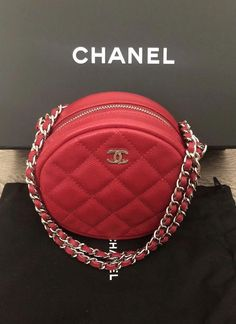 CHANEL Authentic Red Pink Wallet On Chain WOC Shoulder Bag Crossbody Clutch  Lambskin Leather Gold Hw It is said that CHANEL bags used in Japan are in  better ... 26a3a0eefac89