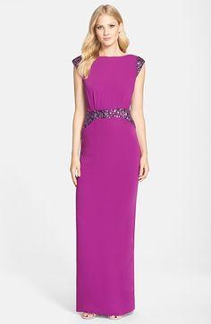 Pamella, Pamella Roland Embellished Crepe Gown available at #Nordstrom